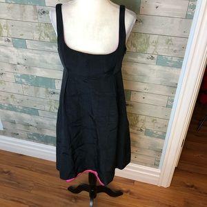 Milly black a-line dress size 6